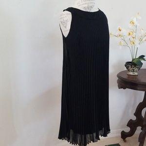 Voir Voir Pleated Chiffon Dress